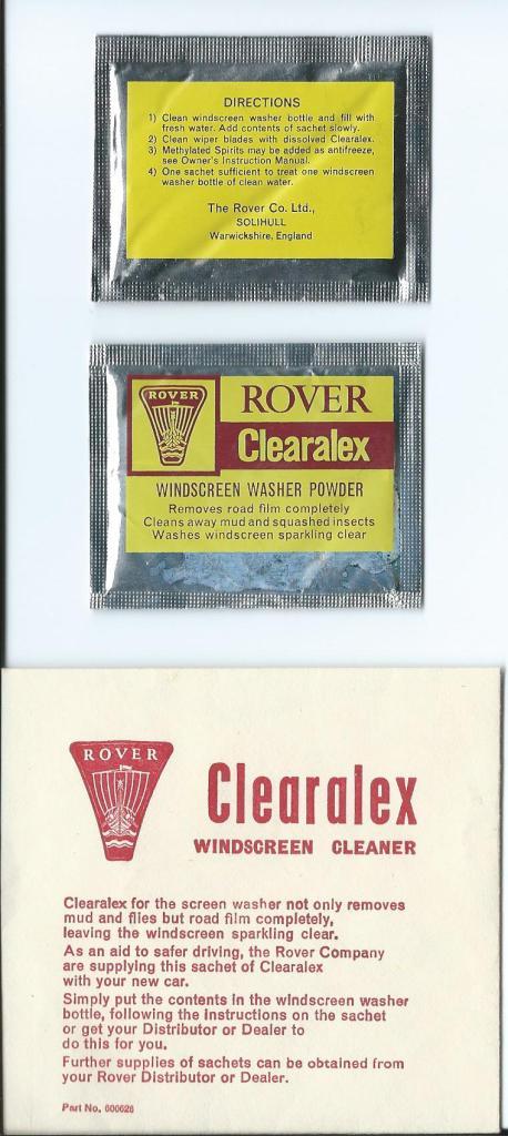 DSC_0501 Rover Clearalex Windscreen Cleaner