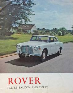 IMG_0638 1962 Rover 3 Litre Mk 2 Brochure Page 1