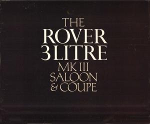 Rover 3 Litre Mk 3 Brochure 1966 Publication 691_Page_01