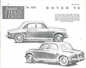 DSC_0001 Rover 90 Road Test 20-1-1956 Title image