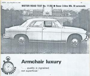 DSC_0001a Rover 3 Litre Mk3 Road Test 19-3-1966 Intro Image